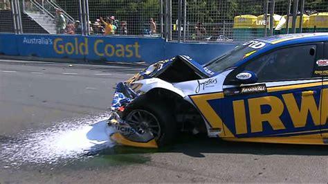 Massive V8 Supercars start crash   2012 Gold Coast 600