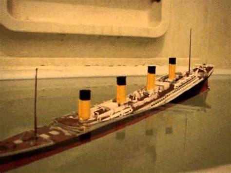 Titanic Sinking Model by Titanic Model Sinking