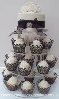 black amp white wedding cupcake tower nottingham 77 heavenly cupcakes flickr