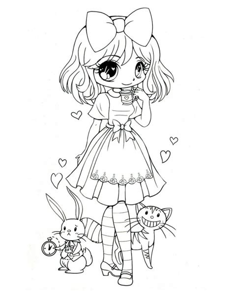 preschool chibi coloring pages  print tha