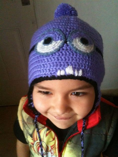 gorros on pinterest 16 pins gorro minion violeta gorros pinterest