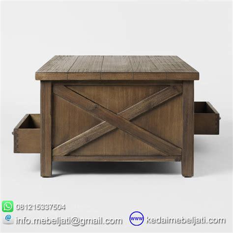 Meja Kayu Custom beli meja tamu american barn style kayu jati jepara harga