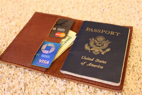 Handmade Leather Passport Cover - handmade in usa leather passport holder wallet