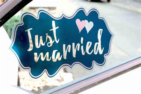 Just Married Aufkleber F R Auto by Aufkleber Just Married Impulseria