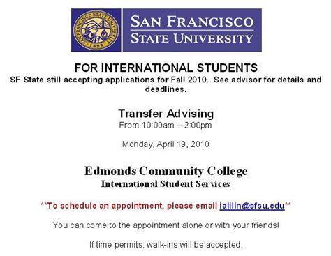 San Francisco State Mba International by Meet A San Francisco State Sfsu Admissions