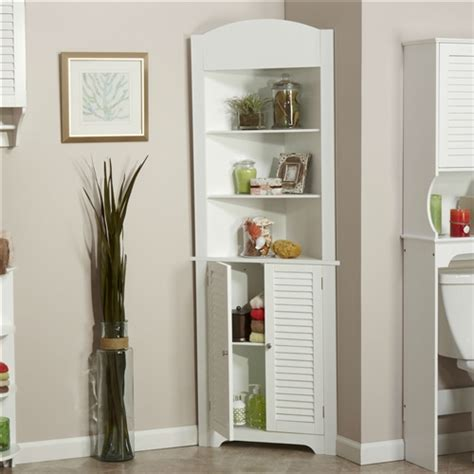 bathroom corner linen cabinet bathroom linen tower corner storage cabinet with 3 open
