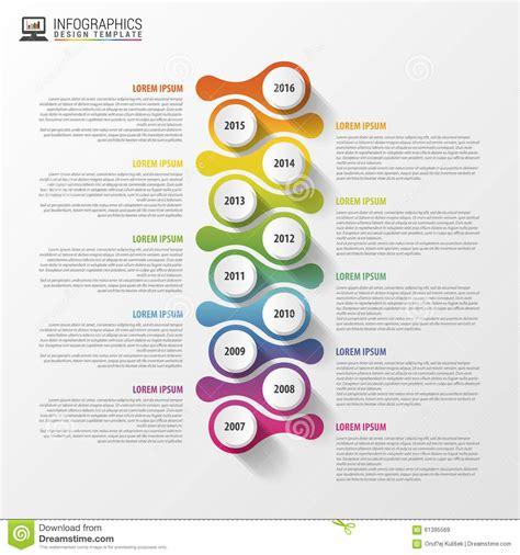 Vector Illustrations Design Concept Template timeline infographics design template business concept