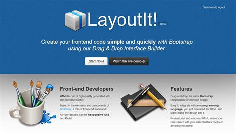 layout it crea dise 241 os en bootstrap de manera visual y sencilla con