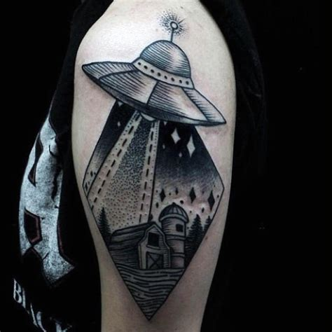 cat ufo tattoo 100 ufo tattoo designs for men alien abduction ink