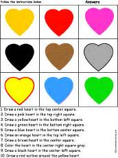 what do the different color hearts colors enchantedlearning
