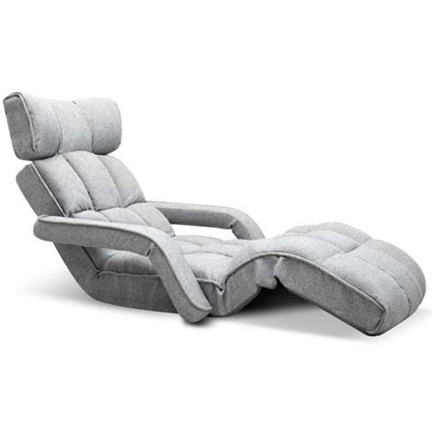 Single Chaise Lounge Chair by Single Size Adjustable Lounge Chair W Arms In Grey Buy