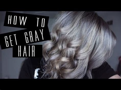 how i got gray hair how i got grey hair rachelpeloquin youtube