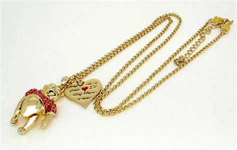 disney couture gold winnie the pooh necklace