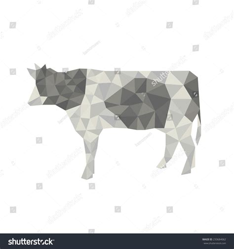 Cow Origami - cow origami stock vector 233684062
