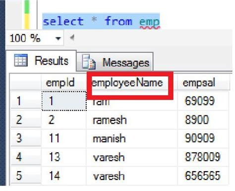 Sql Server Change Table Name Rename A Column Name Of A Table In Sql Server 2012