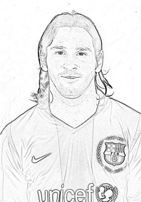 free coloring pages of messi