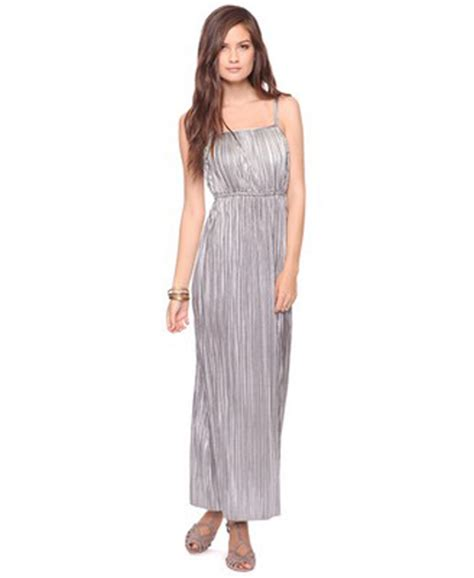 Clothes My Back 1112008 by Forever21 Metallic Pleated Maxi Dress 9 Stunning Maxi