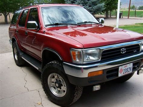 find used 1993 toyota 4runner sr5 v6 4wd manual 5 speed sunroof original owner immaculate in
