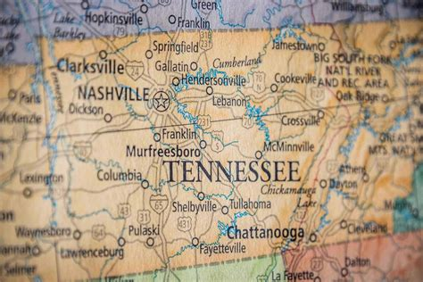 tennessee on the map of usa historical city county and state maps of tennessee