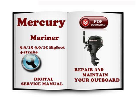 Mercury Mariner Outboard 9 9 15 9 9 15 Bigfoot Hp 4