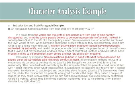 Second Thoughts Are Best Essay by Notes On Character Analysis Ppt