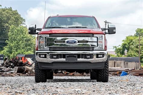 6 Inch Led Light Bar 8 Inch Single Row Cree Led Grille Kit For 2017 Ford F 250