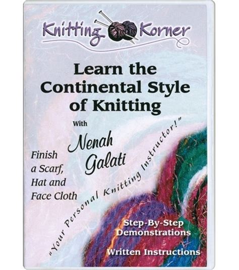 knitting continental style knitting korner learn the continental style of kniting dvd
