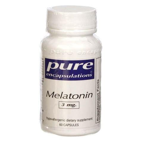 Does Melatonin Detox Brain by Encapsulations Melatonin 3 Mg 60 Capsules