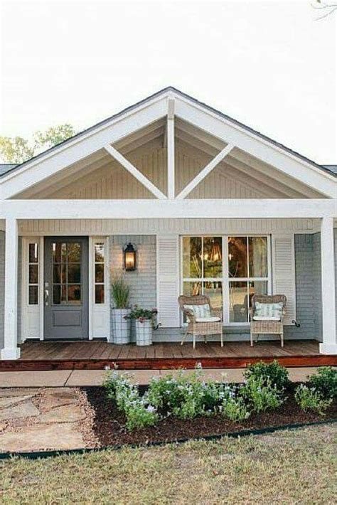 simple covered deck house inspiration pinterest the cottage layout front porch with door to left and gabled