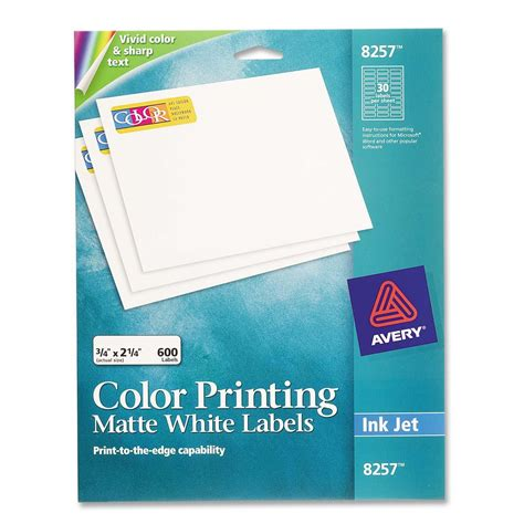 avery template 8257 printer