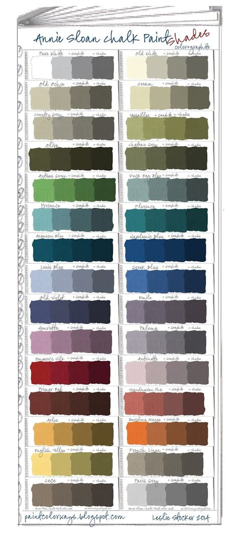 sloan chalk paint swatch book part 2 shades paint colours sloan paints and