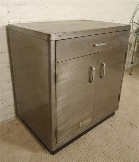 Industrial Metal Cabinets by Industrial Metal Restored Cabinet At 1stdibs