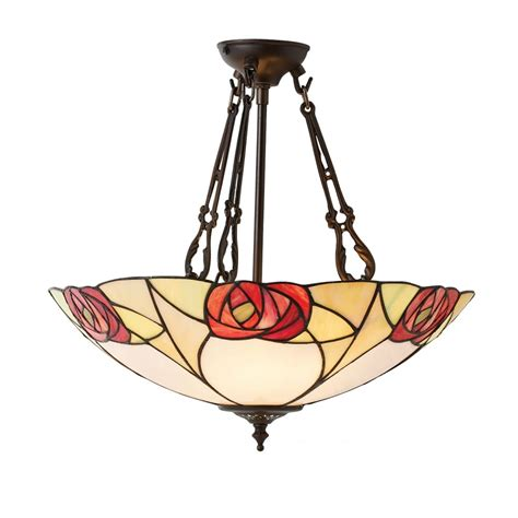 Tiffany Uplighter Ceiling Pendant Light With Art Nouveau Style Ceiling Light