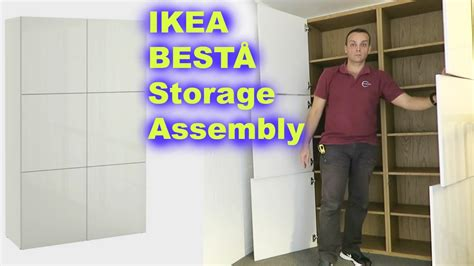 ikea besta assembly instructions ikea best 197 storage combination white assembly youtube