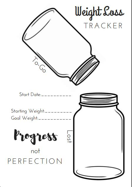 printable weight loss tracker chart printable best ideas on inside