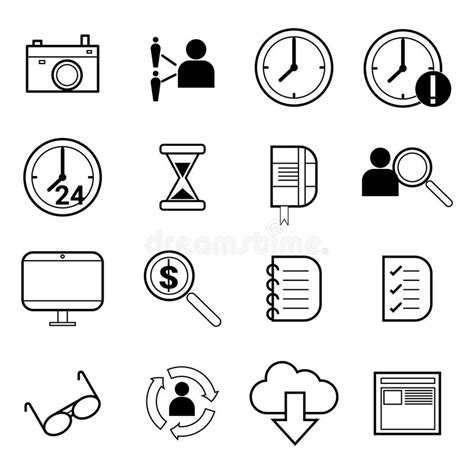talent search free people icons outsourcing and remote work vector icons stock vector