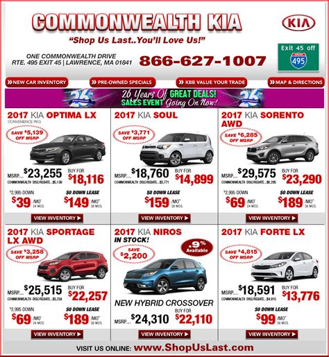 commonwealth kia offers on boston massachusetts kia