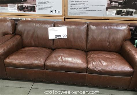 costco leather couch simon li leather sofa costco weekender