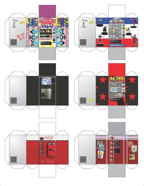 Paper Craft Machine - heroclix vending machine papercraft heroclix 3d maps