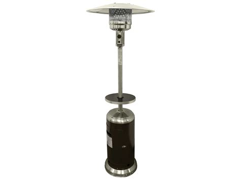 Arizona Patio Heater Az 87 Stainless Steel With Hammered Gold Outdoor Propane Heater Hlds01 Sshgt