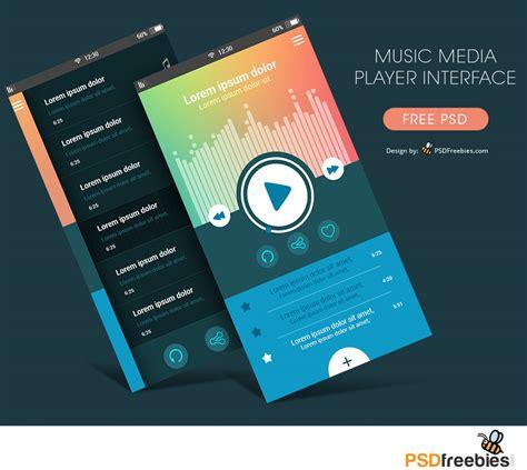 Music Media Player App Interface Free PSD   PSDFreebies.com