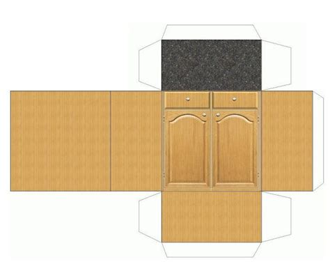 printable play kitchen templates 1000 images about 3d paper doll furniture toys