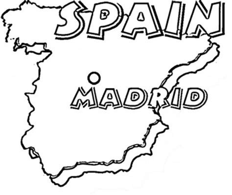 spain map coloring page coloring book