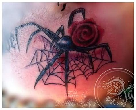 spider rose tattoo 60 fantastic designs of outstanding black widow tattoos