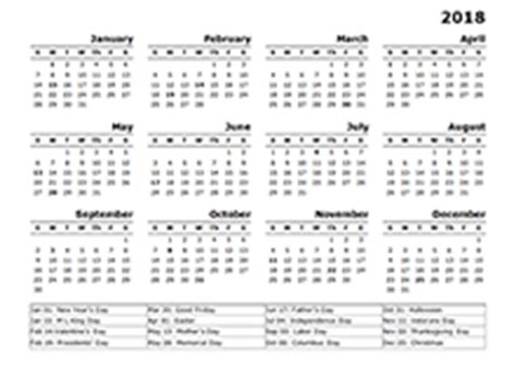 free 2018 yearly calendar download printable yearly