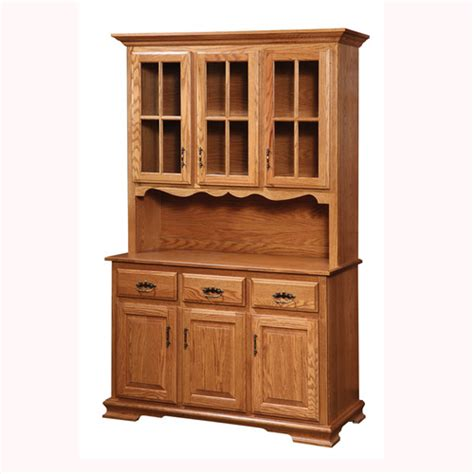 Amish Handcrafted Furniture - amish handcrafted country 3 door hutch 60 southern