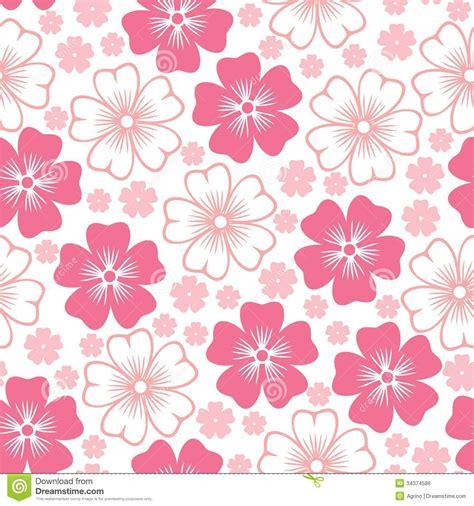 flower pattern on white background pink flower seamless pattern stock vector illustration