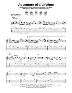 Adventure of a lifetime sheet music by coldplay easy guitar tab