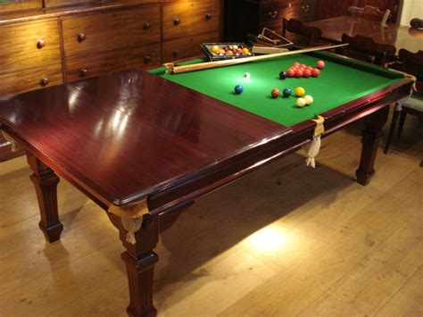 sold edwardian period 8 foot mahogany snooker dining