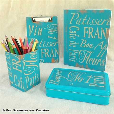blue and white desk accessories blue painted desk accessories png